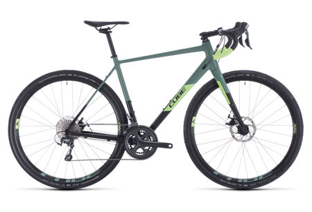 Picture of CUBE NUROAD PRO BLACK´N´SHARPGREEN 2020