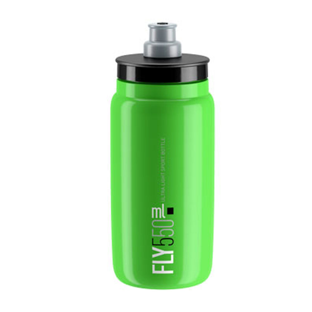 Picture of BIDON ELITE FLY GREEN 550ml BLACK LOGO