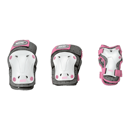 Picture of ŠTITNICI ROCES JUNIOR VENTILATED SET 3-PACK WHITE/PINK