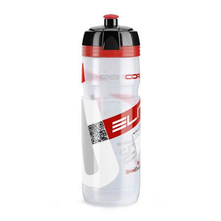 Picture of Bidon SUPER CORSA 750ml Clear Red Logo Elite