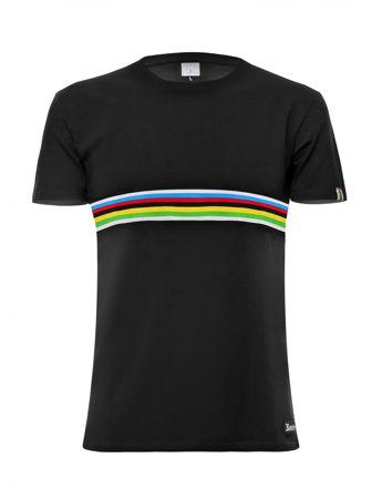Picture of Majica Santini T-SHIRT Cotton/Lycra UCI Black