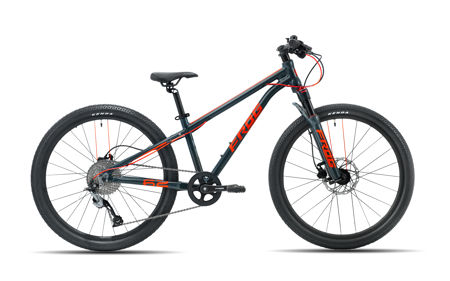 Picture of FROG MTB 62 METALLIC GREY/NEON RED