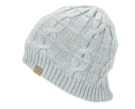 Picture of KAPA SEALSKINZ WP COLD WEATHER CABLE KNIT BEANIE GREY MARL