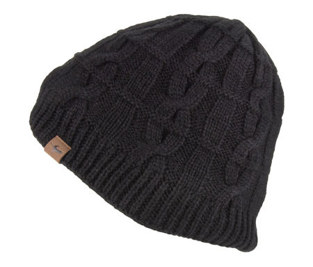Picture of KAPA SEALSKINZ WP COLD WEATHER CABLE KNIT BEANIE BLACK