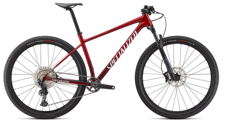 Picture of Specialized Chisel Comp    GLOSS RED TINT BRUSHED/WHITE 2022
