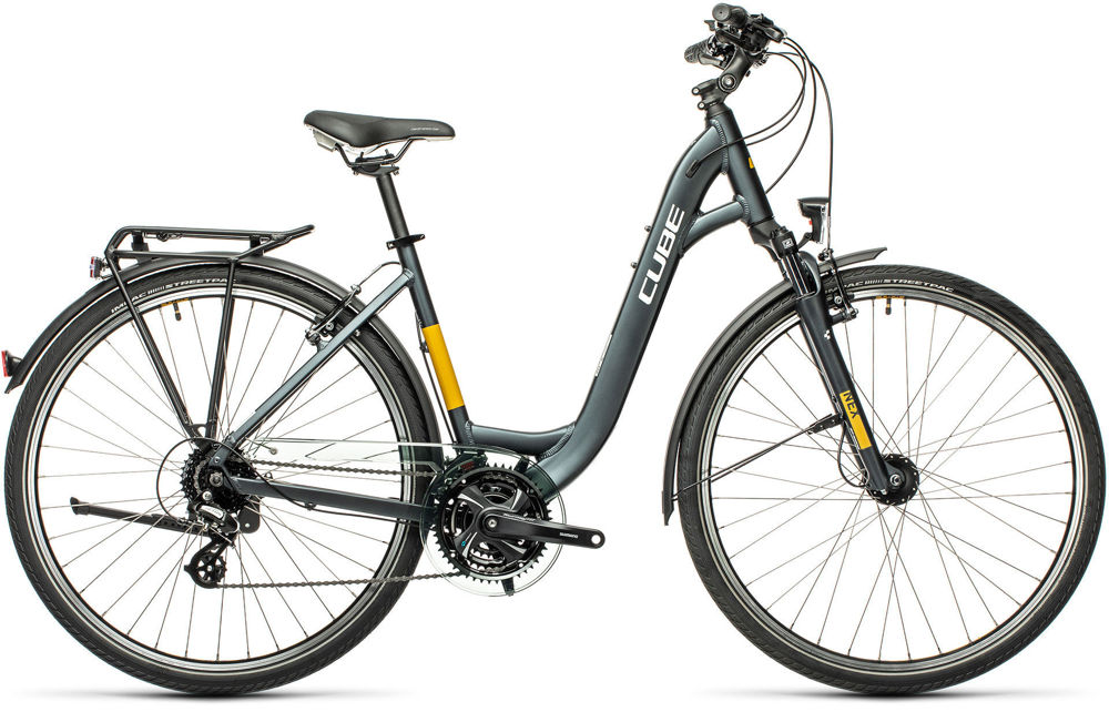 Picture of CUBE TOURING GREY´N´YELLOW 2021 EASY ENTRY