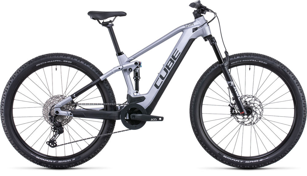 Picture of CUBE STEREO HYBRID 120 RACE 625 POLARSILVER´N´BLACK 2022